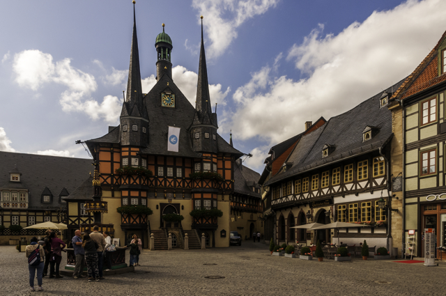 The historic town hall in the market square, Wernigerode